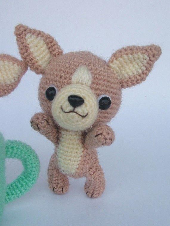 Chihuahua, Tea Cup Puppy - PDF Crochet Pattern | Amigurumi, Hunde ...