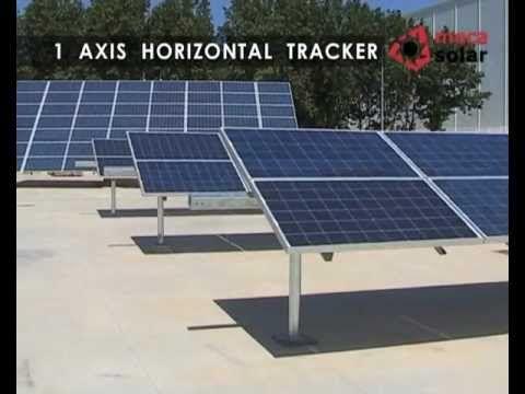 Montaje de paneles solares mediante seguidores solares a 1 eje (horizontal) #fotovoltaica #paneles #solar #instalación