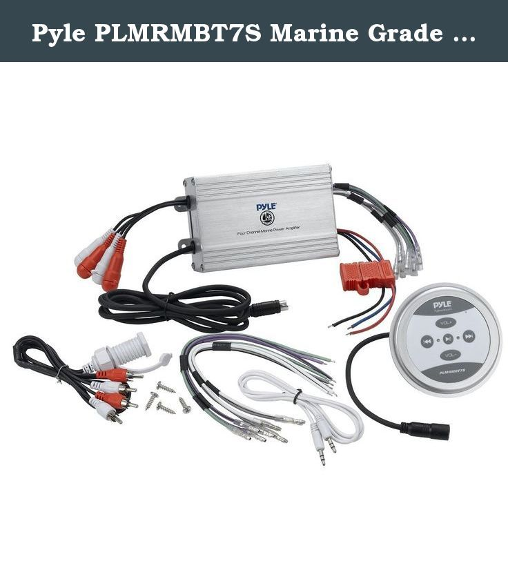 Pyle plmrmbt7s marine grade 1200 watt amp bluetooth 4 channel pyle 1200 watts motorcycleatvsnowmobile sound system with bluetooth amplifiersilverhandle bar mount weatherproof speakerssilver wires and adapter keyboard keysfo Image collections
