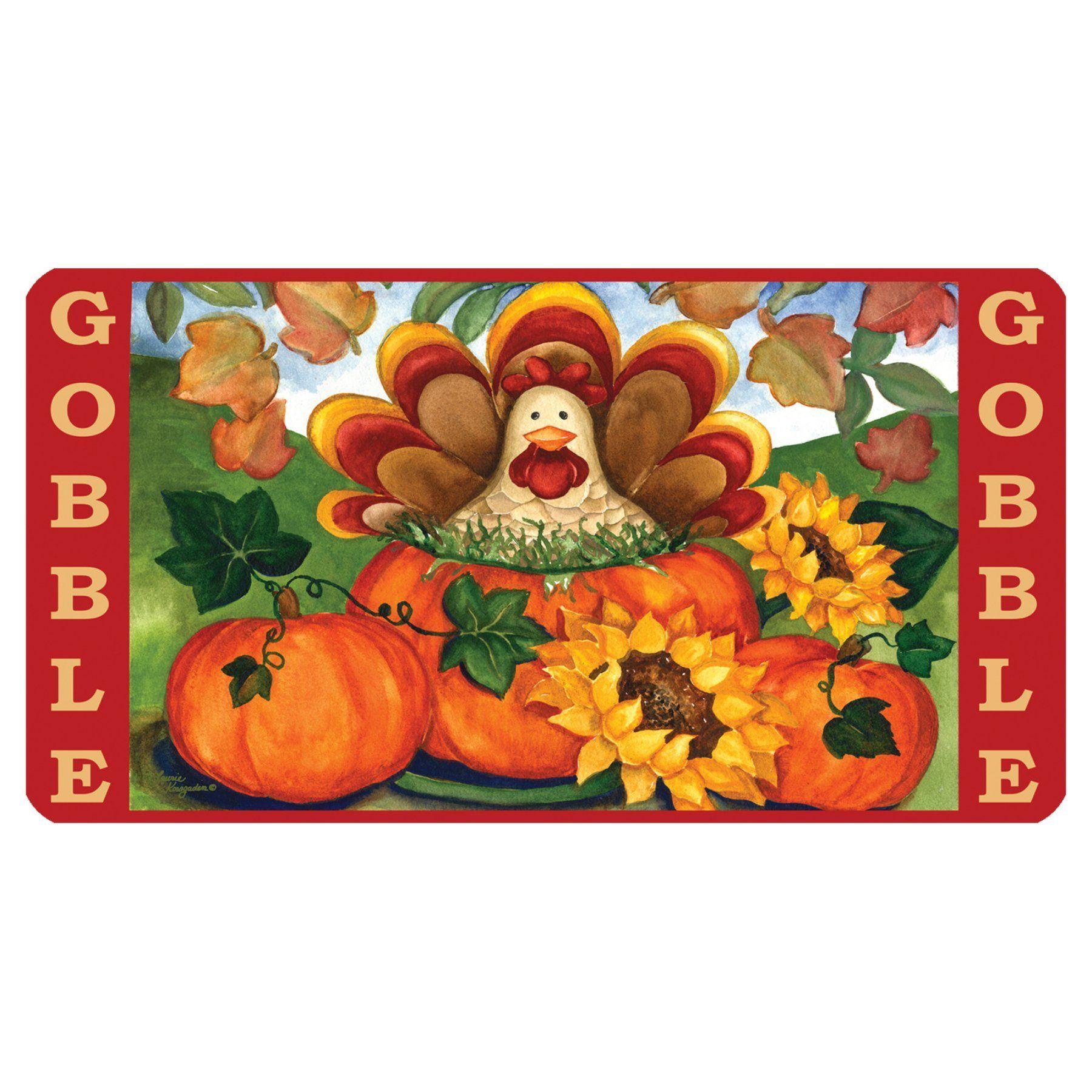 Toland home garden autumn turkey doormat polyester rubber toland home garden autumn turkey door mat 810279 kristyandbryce Images