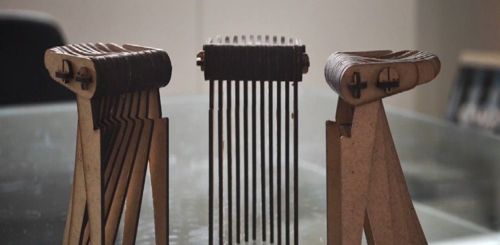 Swish «  Carlo Ratti Associati. Algorithmically designed stool for CNC.