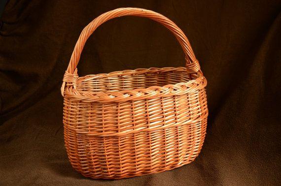 Handmade Wicker Basket Handwoven Willow Basket by WillowSouvenir