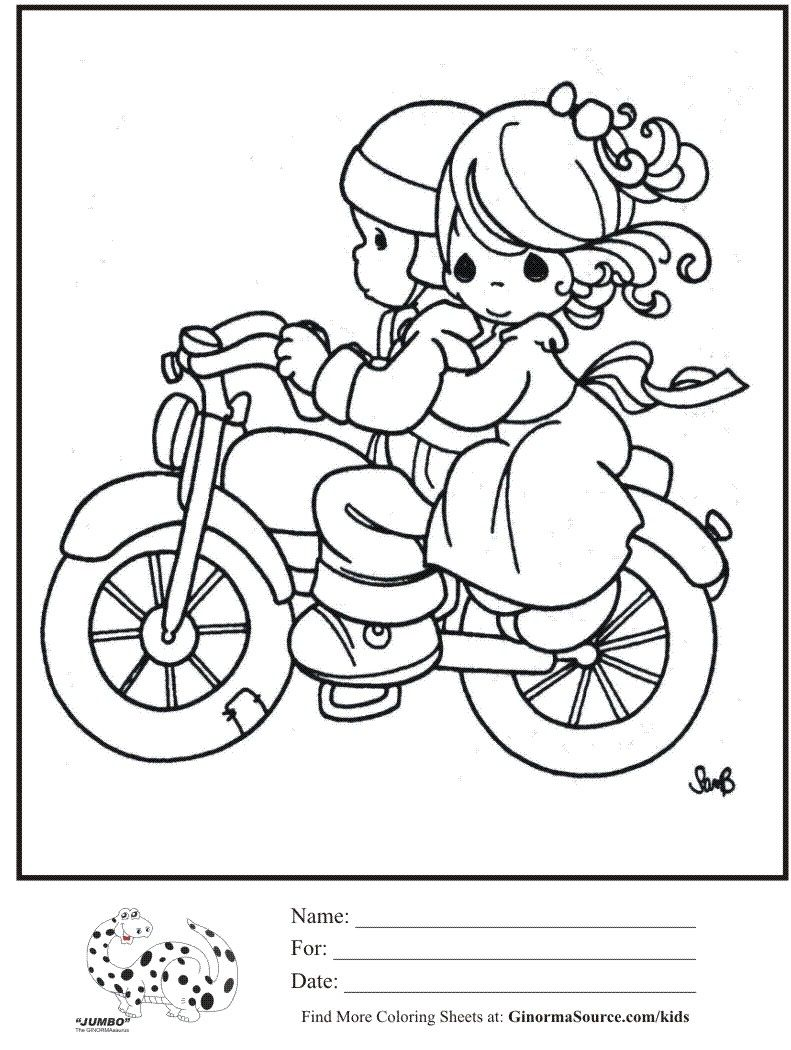 coloring book precious moments motorcycle google search