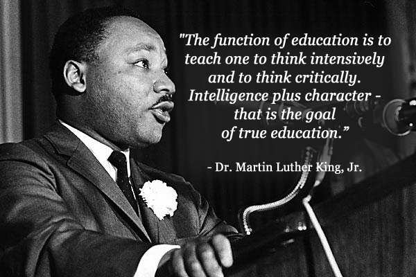 A great quote by Martin Luther King, Jr. We honor his example, and