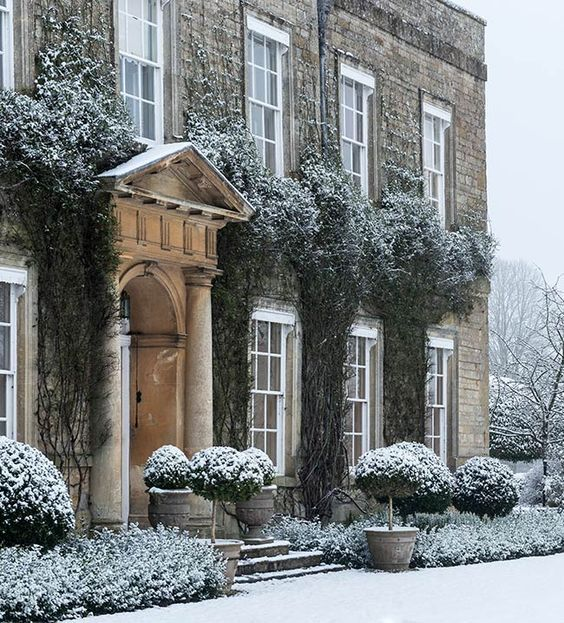 Image result for English Country House in Snow