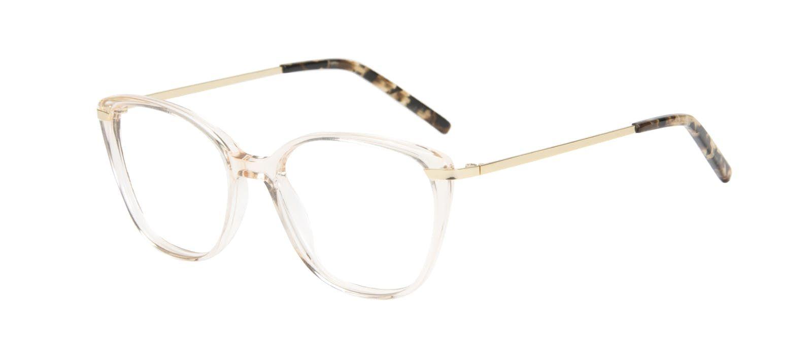 b7dc6845c66e Affordable Fashion Glasses Cat Eye Rectangle Square Eyeglasses Women  Illusion Blond Metal Tilt