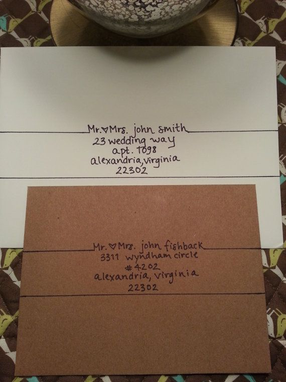 Handwritten Addressing Of Envelopes And By Invitewithflare On Etsy