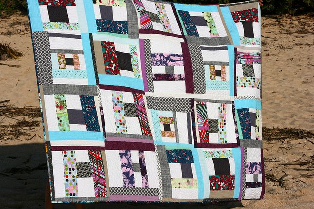 Spool pattern by Denyse Schmidt | quilted by Angela Walters | Flickr
