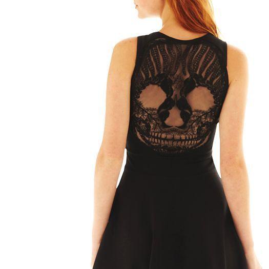 Lace Skull Dresses Black Olsenboye Skull Lace Dress Jcpenney