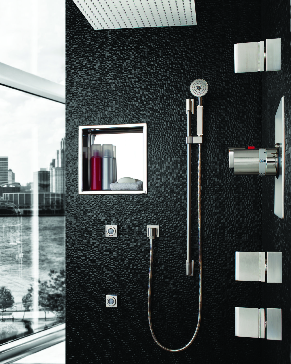 Stainless Steel niches by Rubinet available in two sizes (12x12 and ...