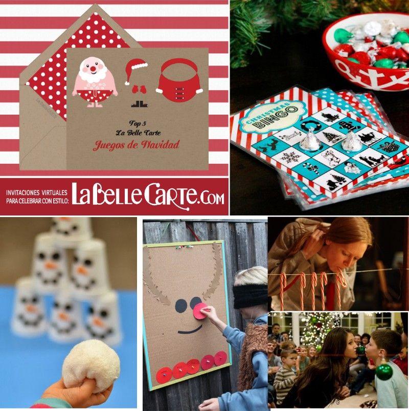 Top 5 Ideas Para Fiestas Juegos De Navidad Navidad Pinterest