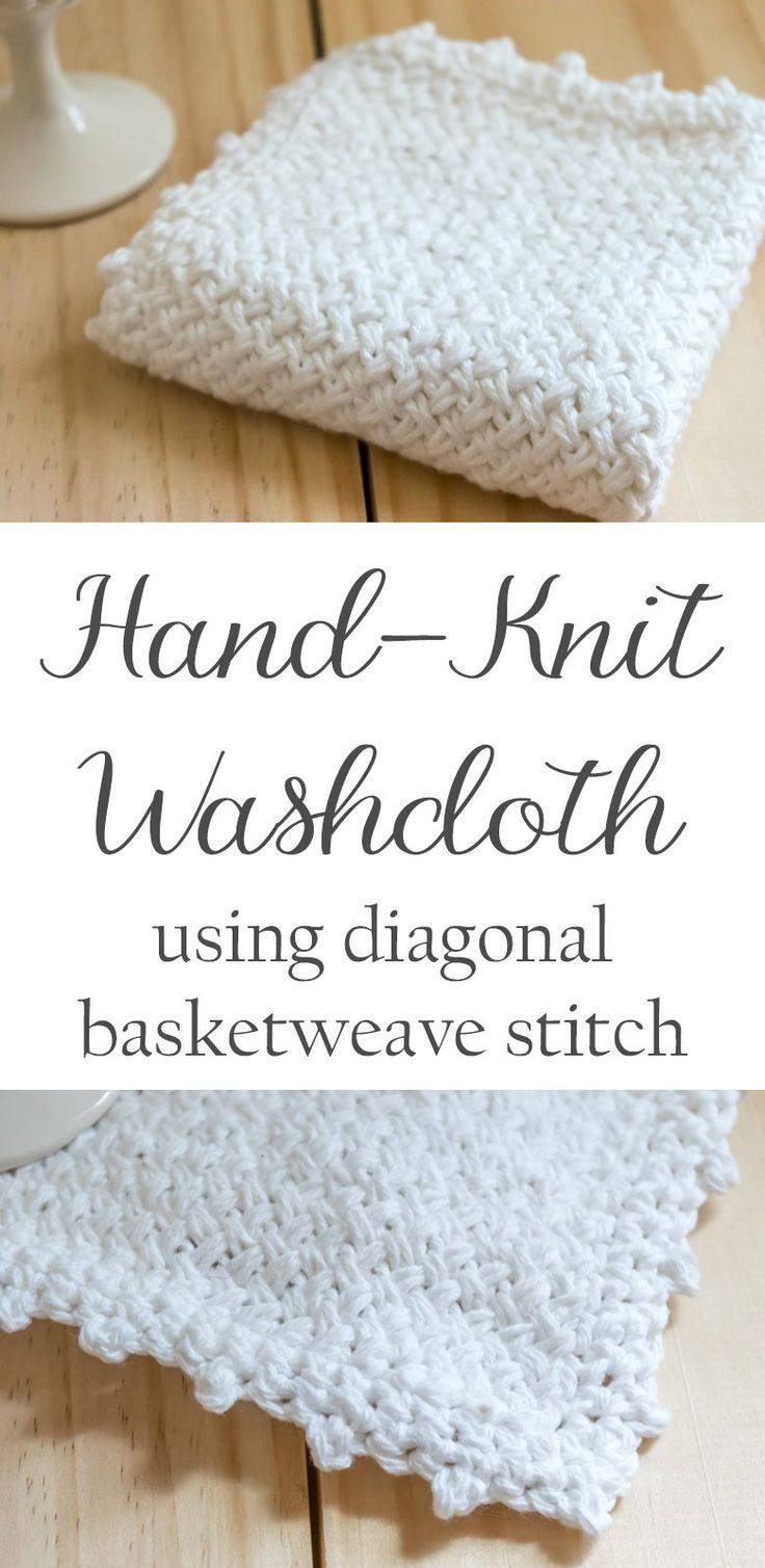 Diagonal basketweave washcloth   DIY: Knitting Projects   Pinterest