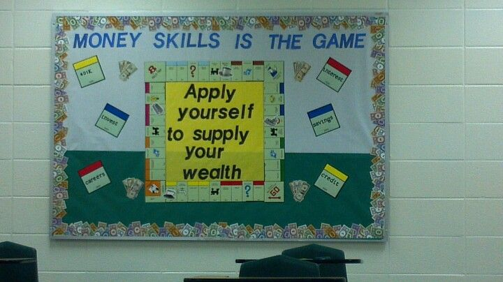 money skills bulletin board