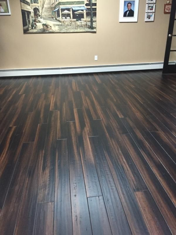 Darlene In Nj Picked Vintage Java Bamboo For A Family Room Flip Acclimated Wood 11 Days And Glued Nailed Floor Very Easy To Lay