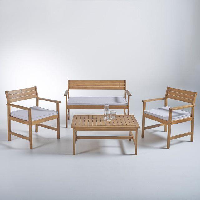 salon de jardin acacia huil fsc la redoute shopping prix la redoute mobile divers garden. Black Bedroom Furniture Sets. Home Design Ideas