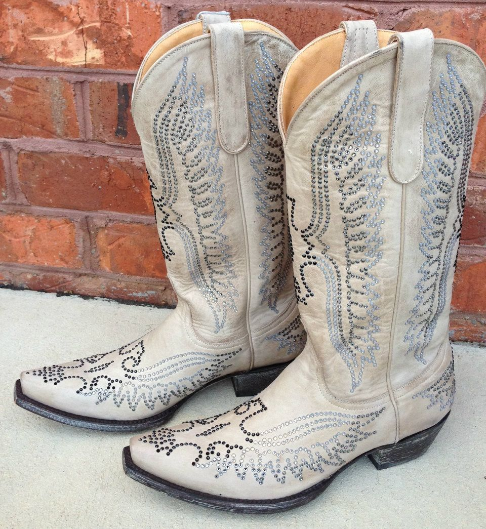 479f130602c Old Gringo Swarovski Eagle Bone L443-7 | Old Gringo Boots - SOLD ...