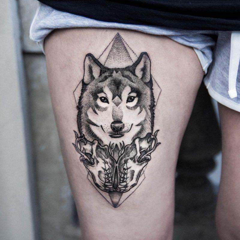 tattoo wolf 60 inspirierende ideen f r m nner und frauen tattoos tattoo tatto and tattoo wolf. Black Bedroom Furniture Sets. Home Design Ideas