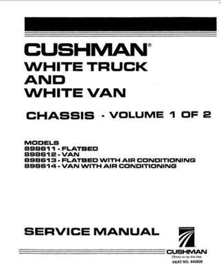 EZGO 842826 1996-2006 Service Parts Manual for Gas Cushman