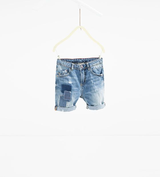 ZARA - KIDS - Denim Bermuda shorts with patches