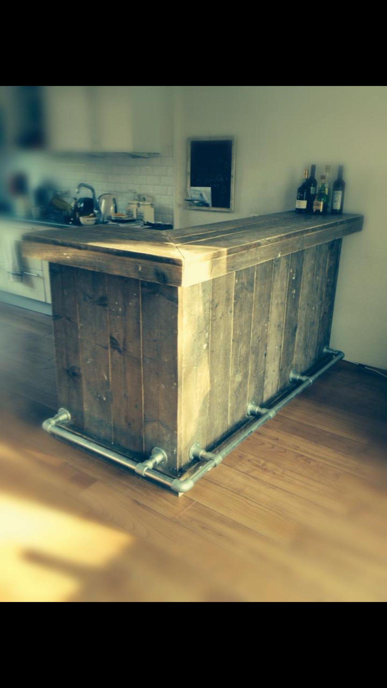 Vette bar oud steigerhout | veranda | Pinterest | Paletten bar ...
