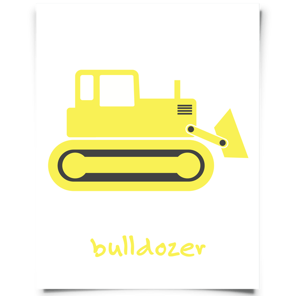 Bulldozer Wall Art | Free printable, Kids rooms and Free printables