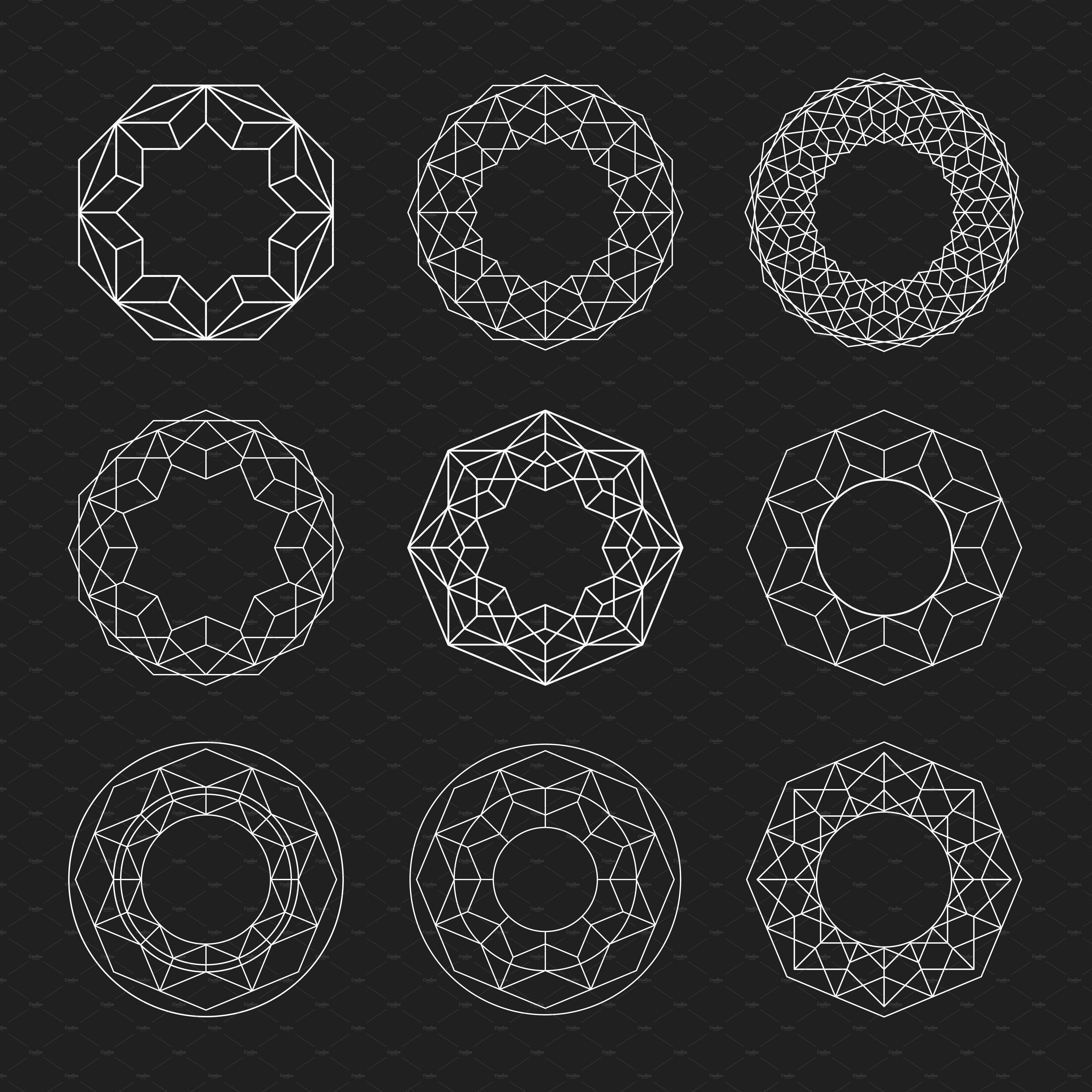 Circle Shapes Geometric Mandalas