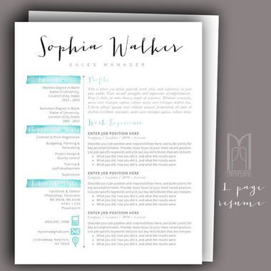 Sophia Walker  Template Resume Cv And User Experience