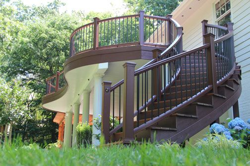 Best Curve Is 90 Degree Curved Trex Transcend Deck Railing 400 x 300