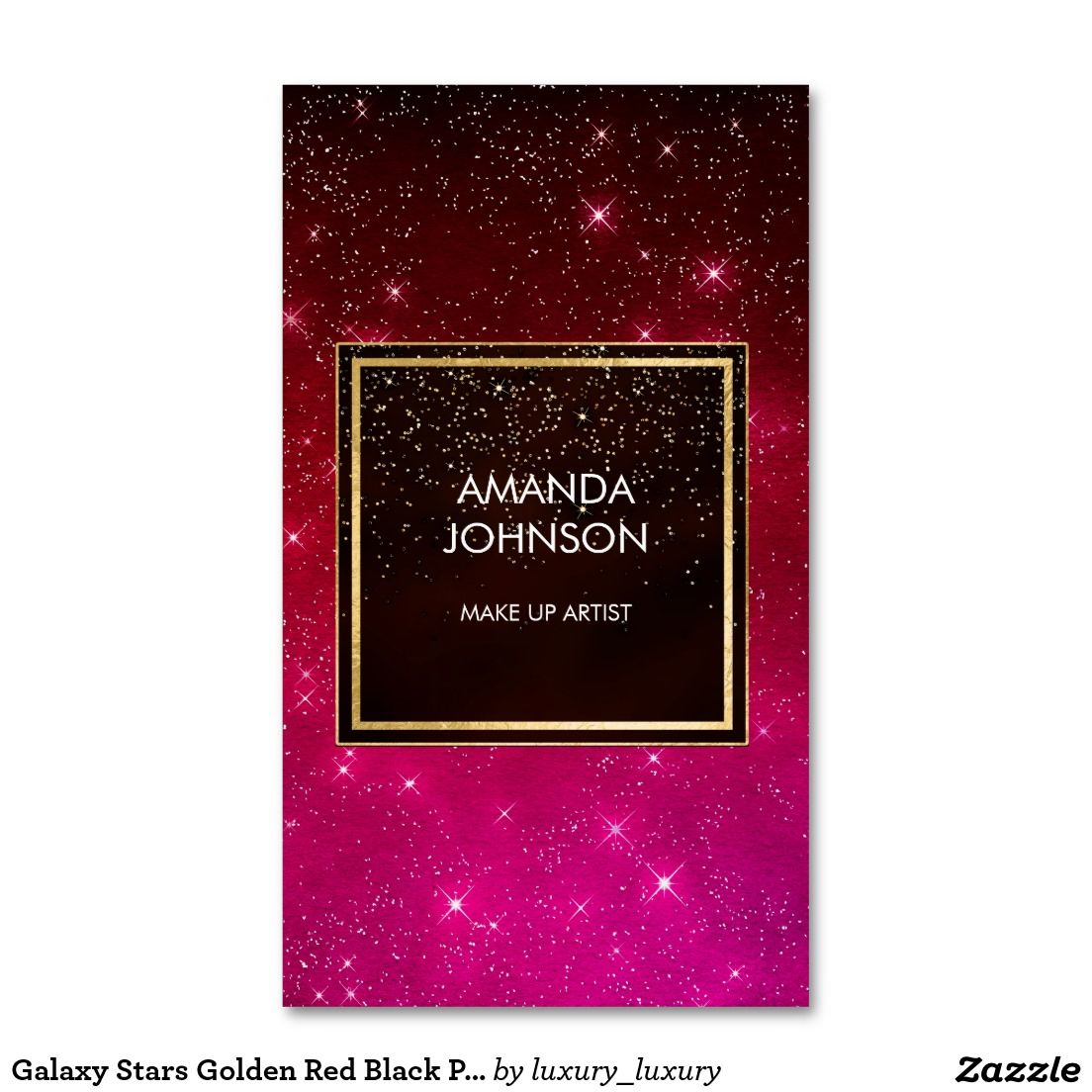 Galaxy Stars Golden Red Black Pink Confetti Pack Of Standard ...