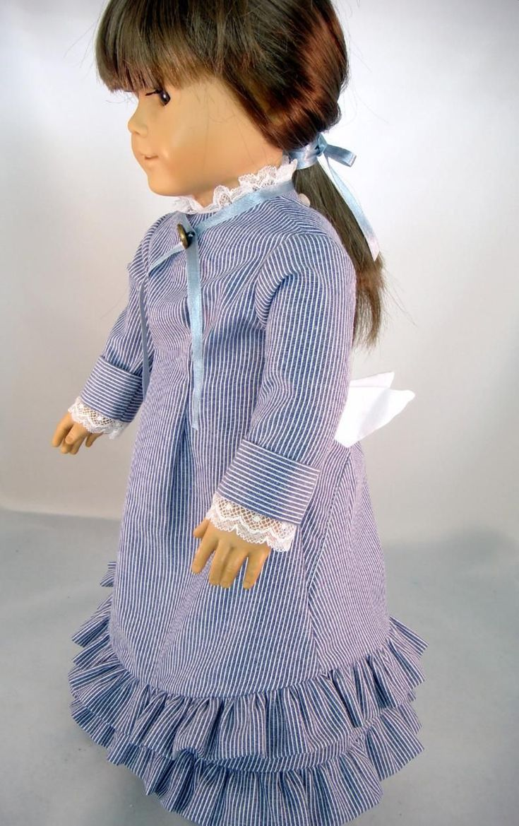 18 Inch Doll Clothes - Dress Historical Little House on the Prairie Laura Ingall...,  #clothe... #historicaldollclothes