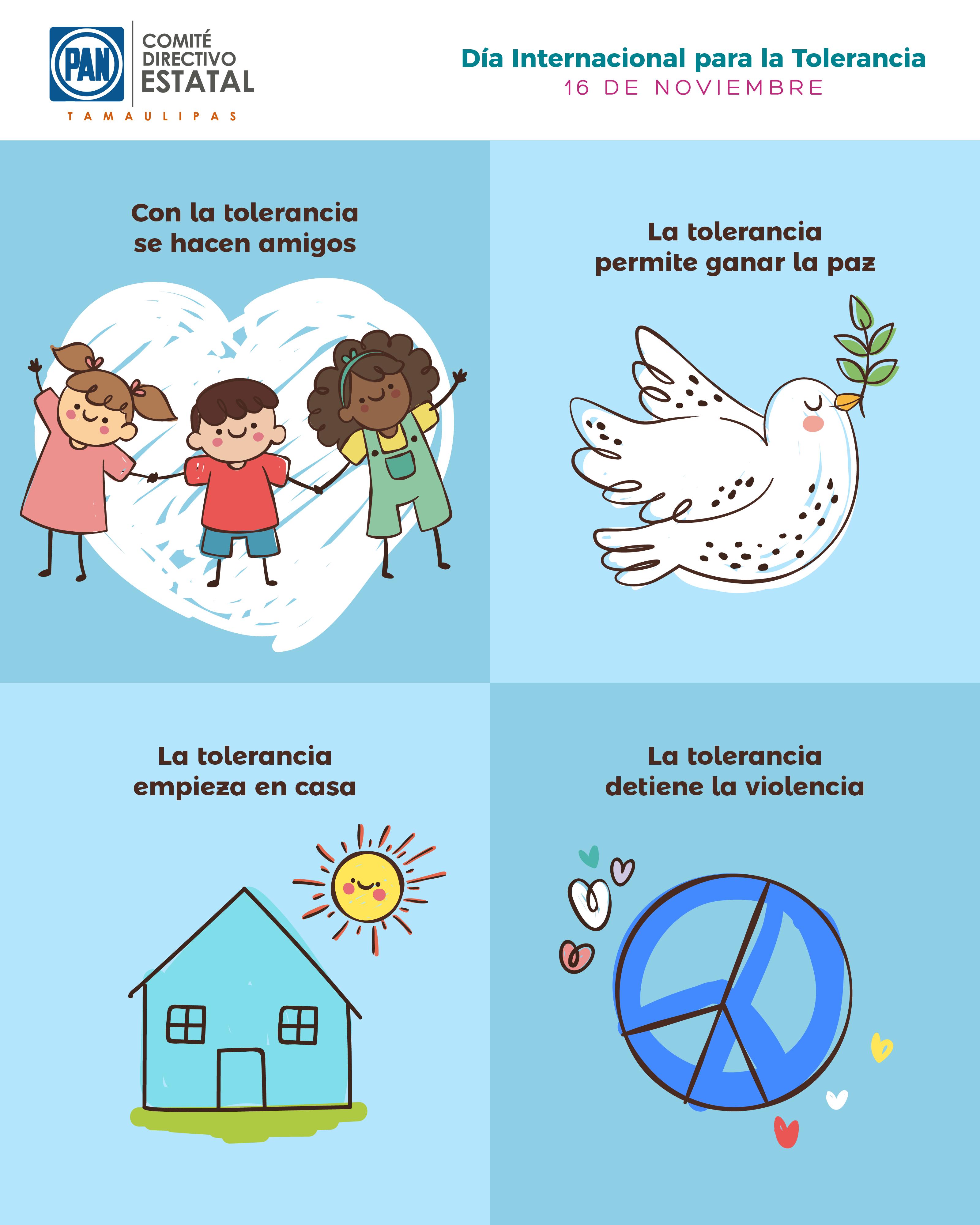 Dia Internacional Para La Tolerancia Amor Paz Pantamaulipas Efemerides Accionnacional Hacer Amigos Dia Internacional De Infografia