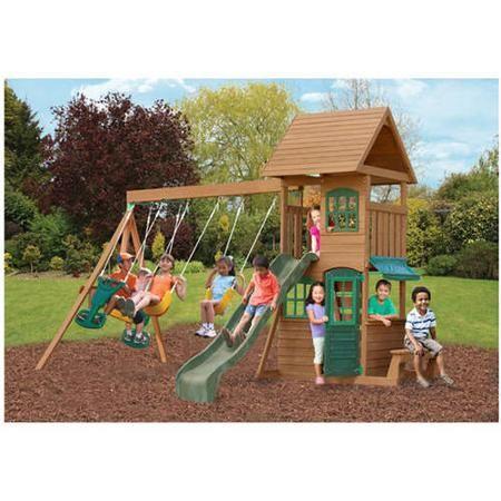 Toys Backyard Swing Sets Backyard Playset Cedar Swing Sets