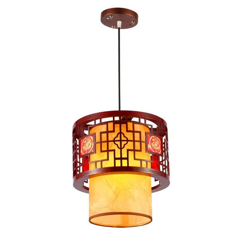chinese style wooden teahouse pendant lamp vintage classic dining