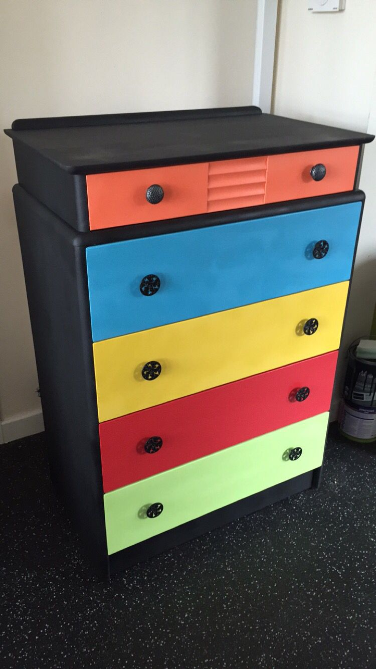 Painted Chest Of Drawers For The Boys Bedroom Boys Bedroom