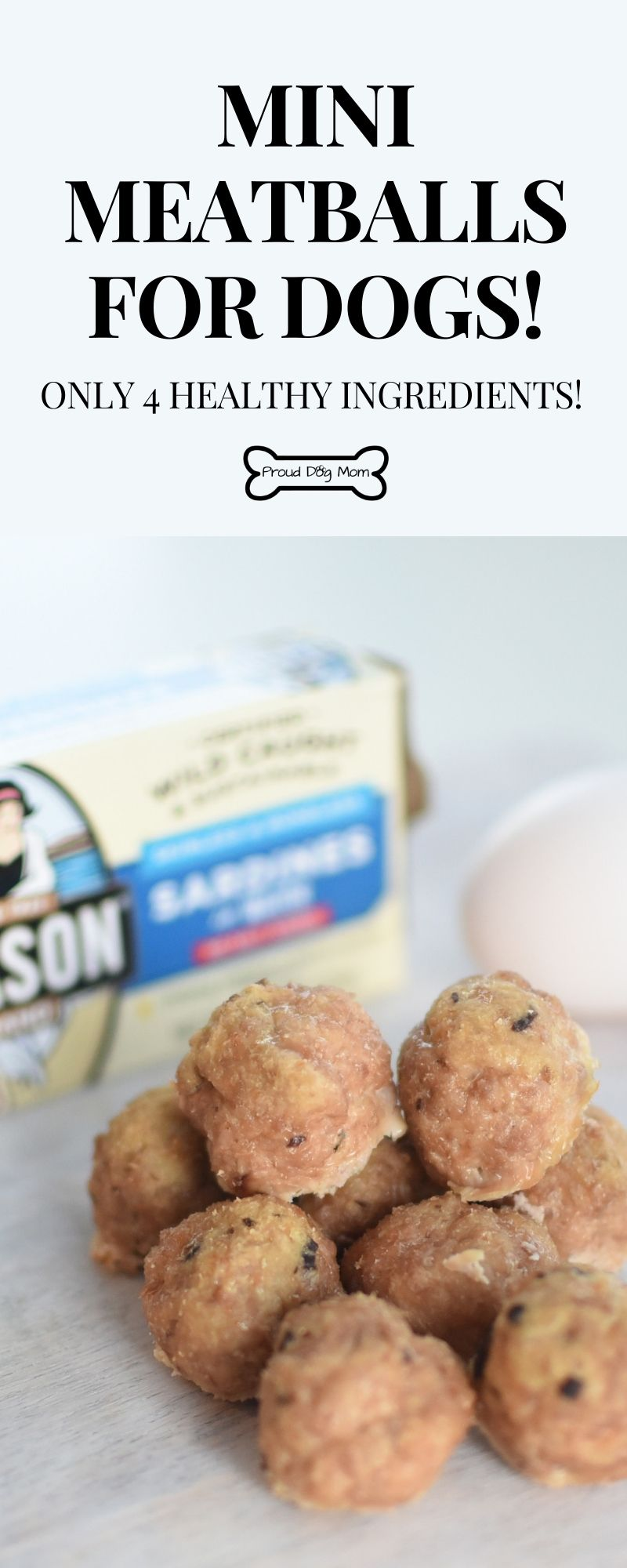 4 Ingredient Doggy Meatballs Recipe Dog Treats Grain Free Dog