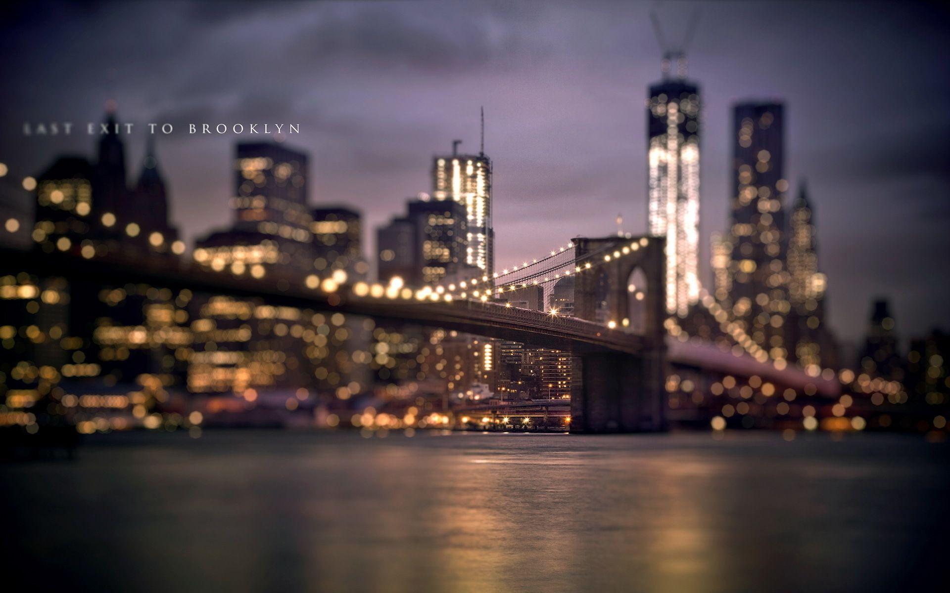 The Iconic Brooklynbrige Dis New York Wallpaper New York City Background Brooklyn Bridge New York