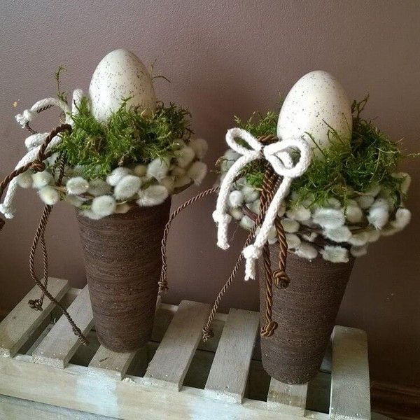 Beautiful ideas of rustic Easter ornaments that will give your home an adorable look