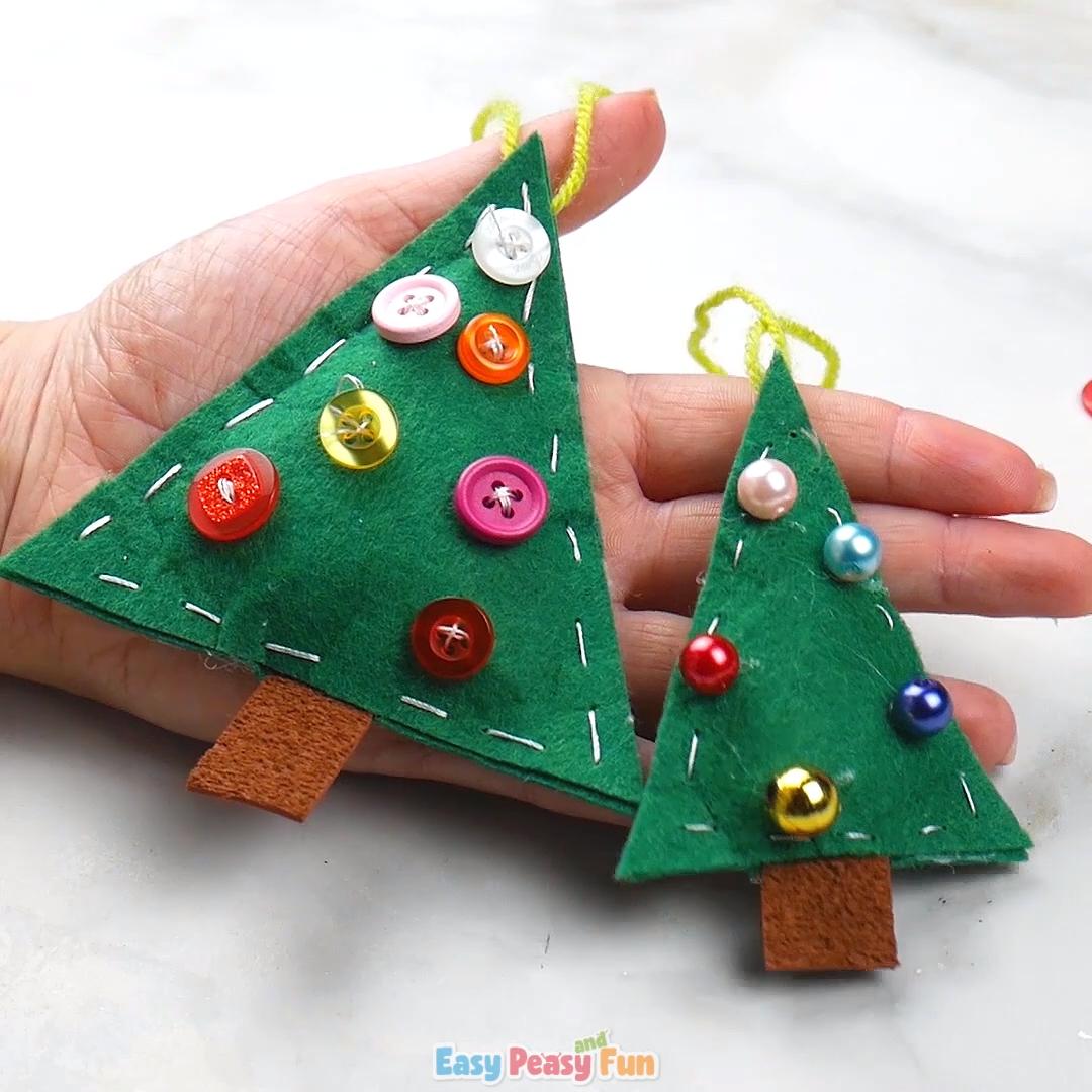 Felt Christmas Tree Ornament Video Video Diy Felt Christmas Tree Christmas Crafts Diy Christmas Tree Ornaments