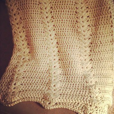 Double Crochet and Shell Afghan Pattern