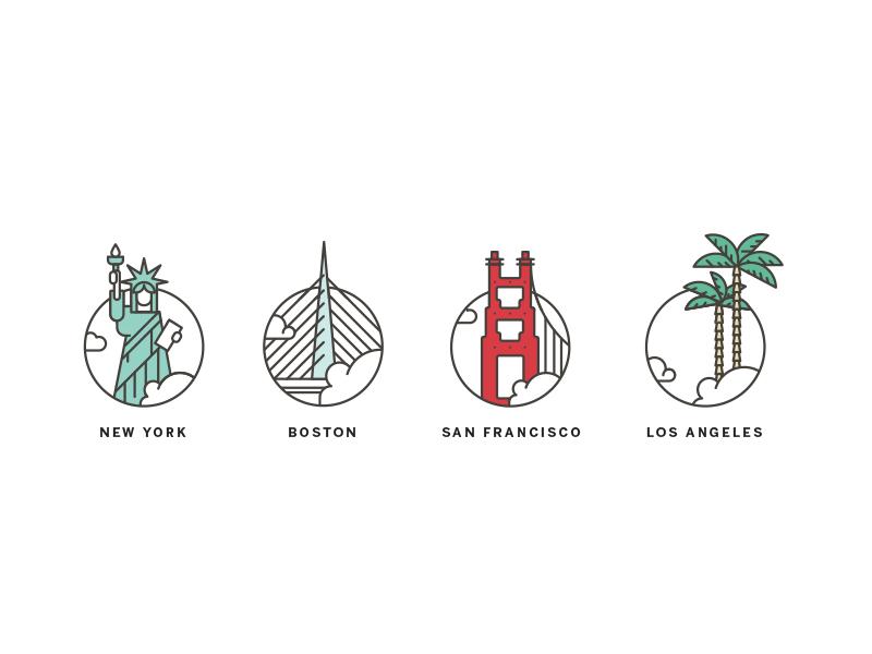 City Illustrations City Illustration Icon Design Inspiration City Icon