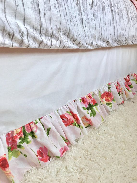 Pink Bed Skirt Queen.White Children S Bed Skirt Pink And Red Floral Bed Skirt