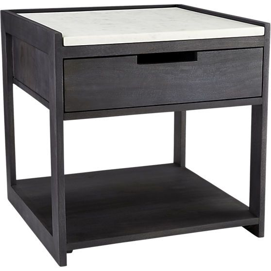 Tux marble top nightstand in 2018 Nightstands Pinterest