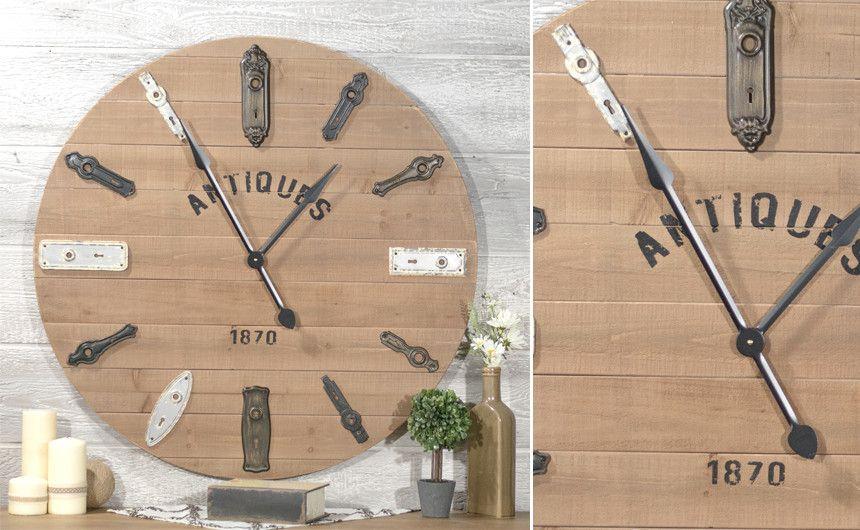 Wooden Antique Keyhole Wall Clock   Wall Decor   Pinterest   Clocks ...