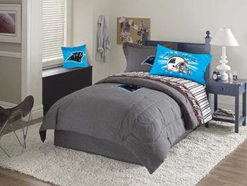 Best Carolina Panthers Valance Pillows Wall Border Accesories Boys Bedding In 2019 Sports 400 x 300