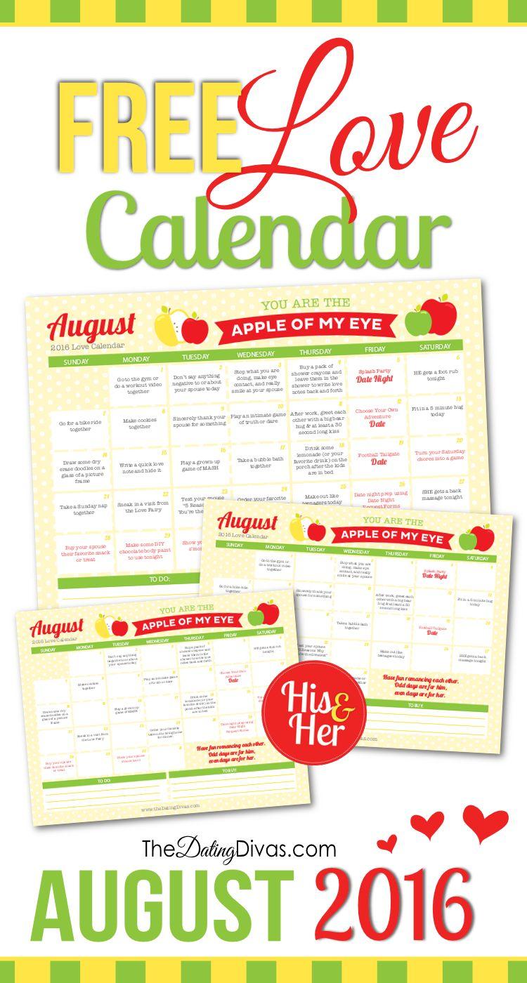 Dating divas august calendar