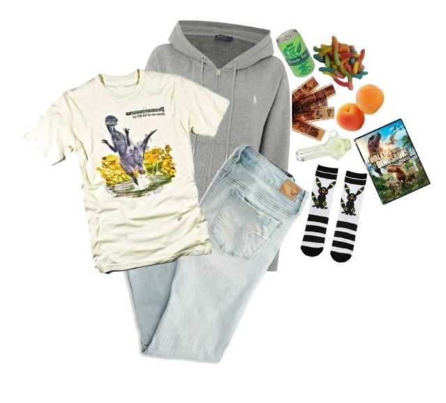 """""""Jessica"""" by rainecoat ❤ liked on Polyvore featuring Polo Ralph Lauren, American Eagle Outfitters, Retrò and Dinosaurs"""