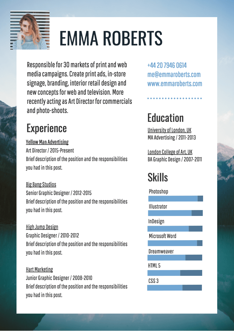 Infographic Resume Template | Infographic resume ...