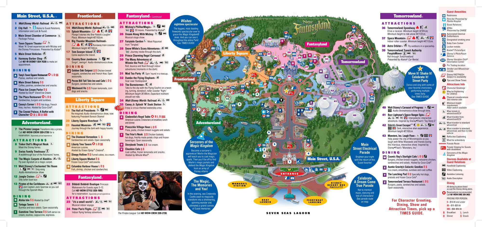 This site has everything that i just spent two hours writing down magic kingdom map view a free printable pdf disney world map view the main attractions at disney magic kingdom gumiabroncs Gallery