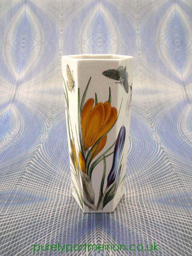 Portmeirion Botanic Garden Vintage Hexagonal Vase Rare