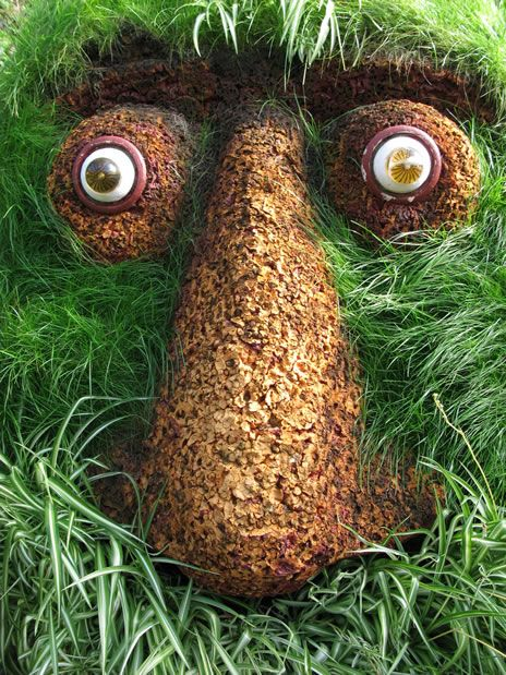 This huge grass face sculpture is located in the garden of eden this huge grass face sculpture is located in the garden of eden iceland publicscrutiny Image collections